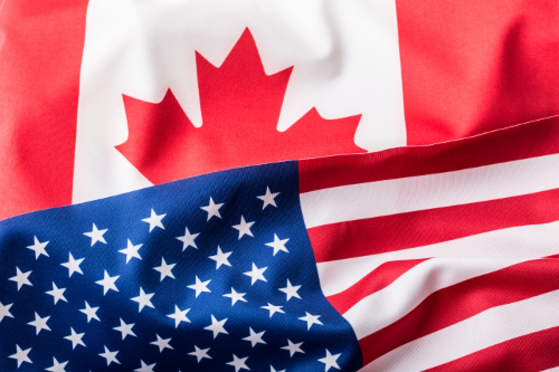 Canadian and USA Flags